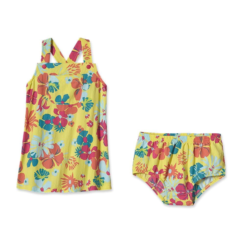 Patagonia - Baby Baggies Apron Dress Native Leis: Pineapple - Skorts - 6M