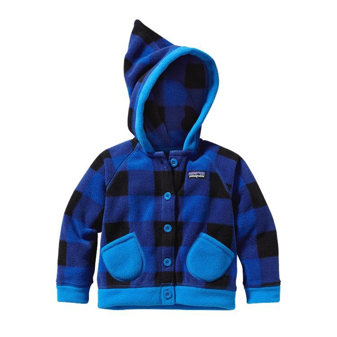 Patagonia - Baby Swirly Top Jacket Fuzzy Plaid: Andes Blue - Isolation & Winter Jackets - 3M