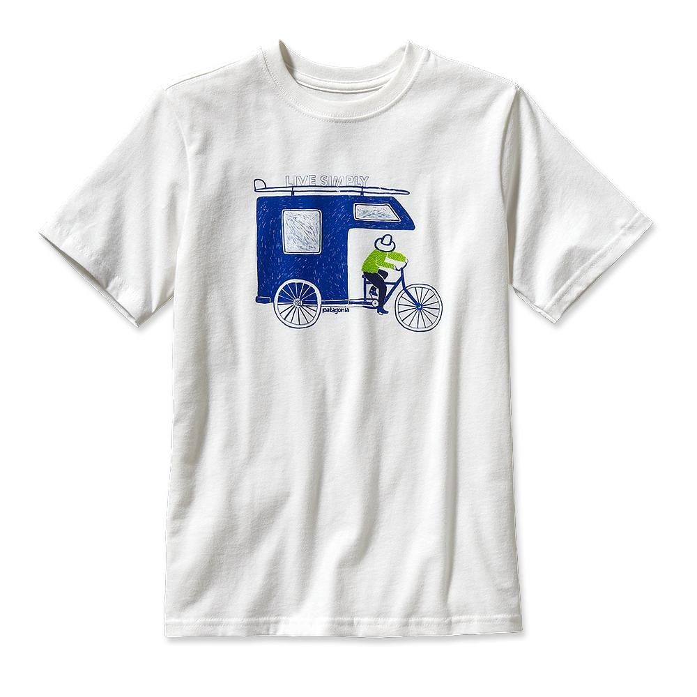 Patagonia Boy Live Simply Trailer T-Shirt White-30