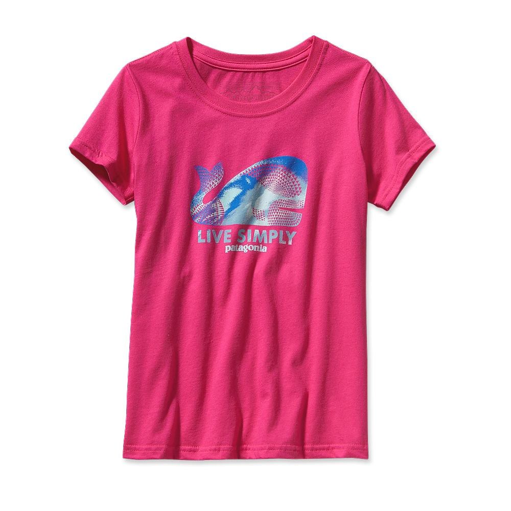Patagonia Girl Live Simply Geometric Whale T-Shirt Radiant Magenta-30