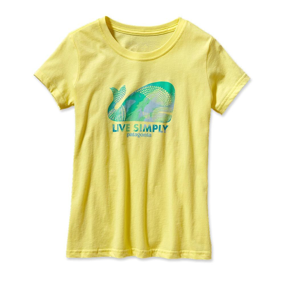 Patagonia Girl Live Simply Geometric Whale T-Shirt Pineapple-30