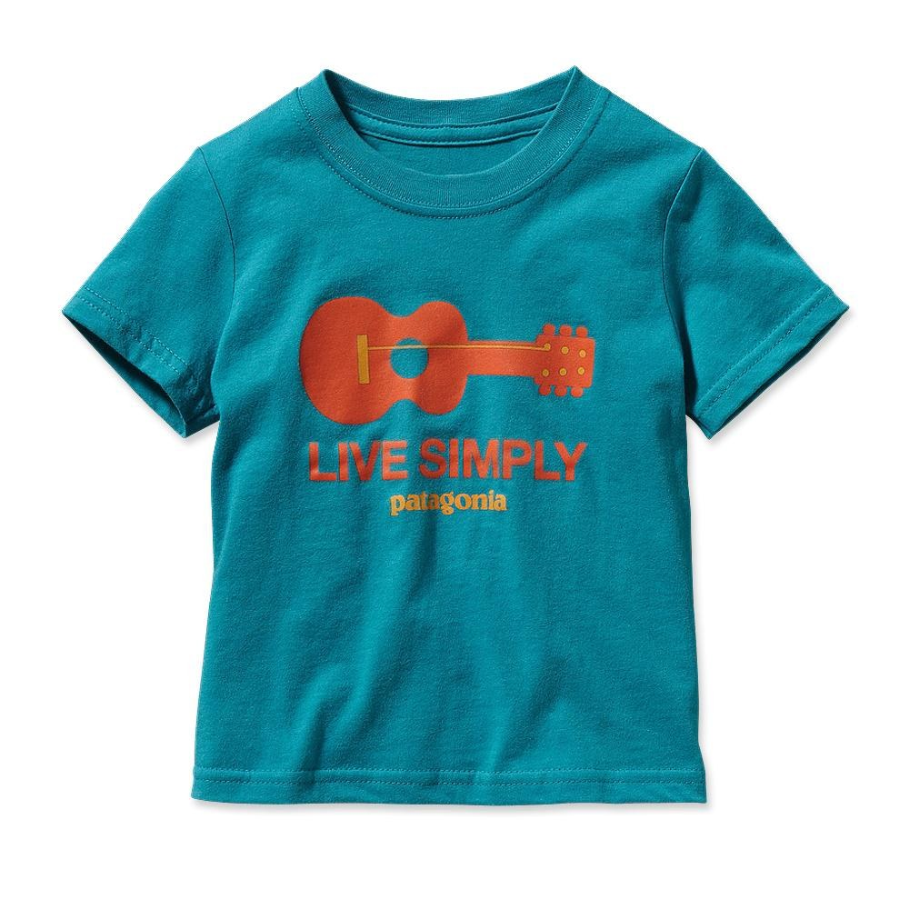 Patagonia Baby Live Simply Guitar T-Shirt Tobago Blue-30