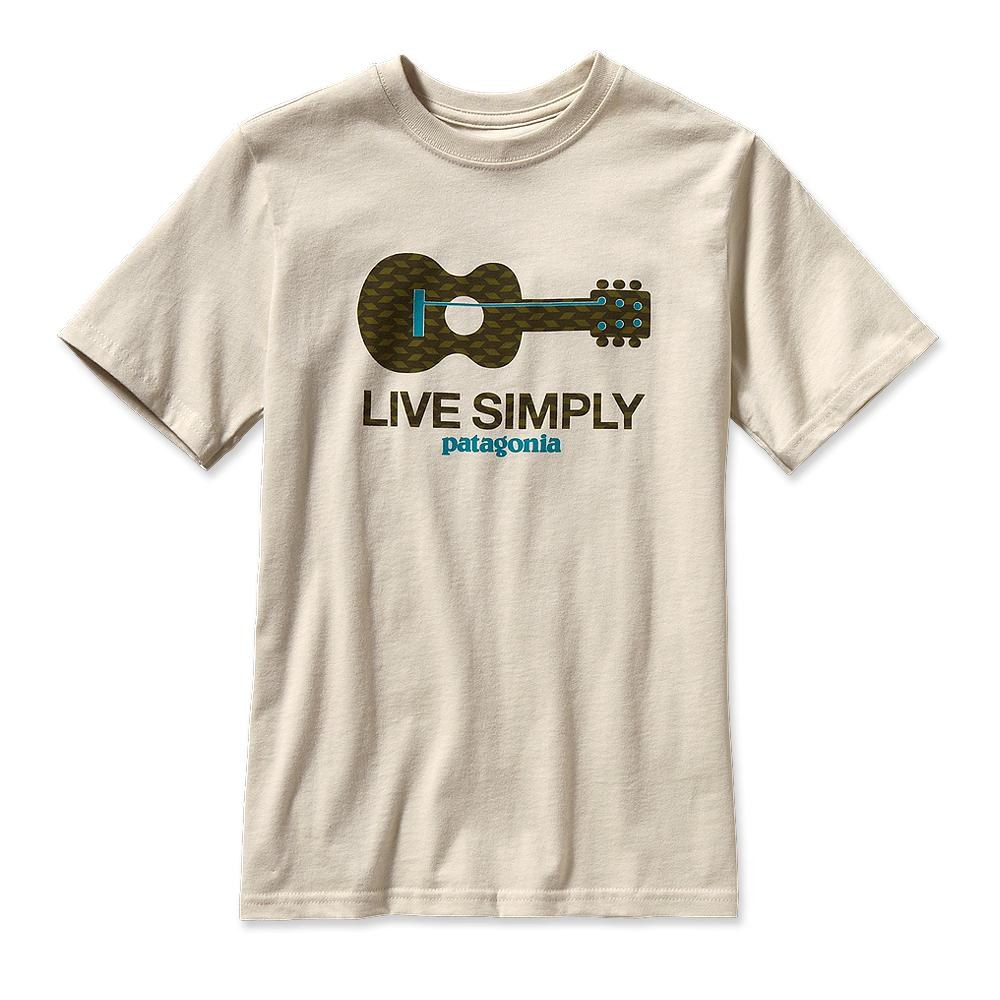 Patagonia Boys' Live Simply Guitar T-Shirt Bleached Stone-30