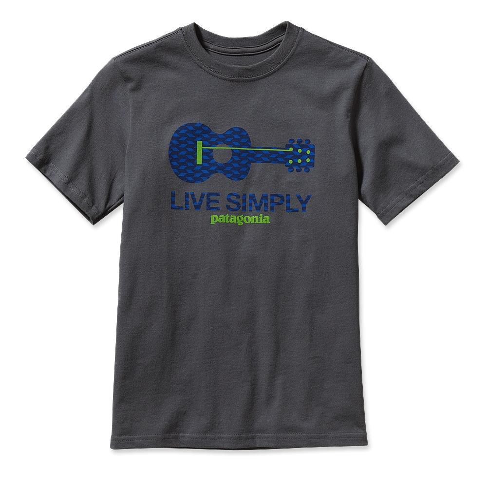 Patagonia Boys' Live Simply Guitar T-Shirt Forge Grey-30
