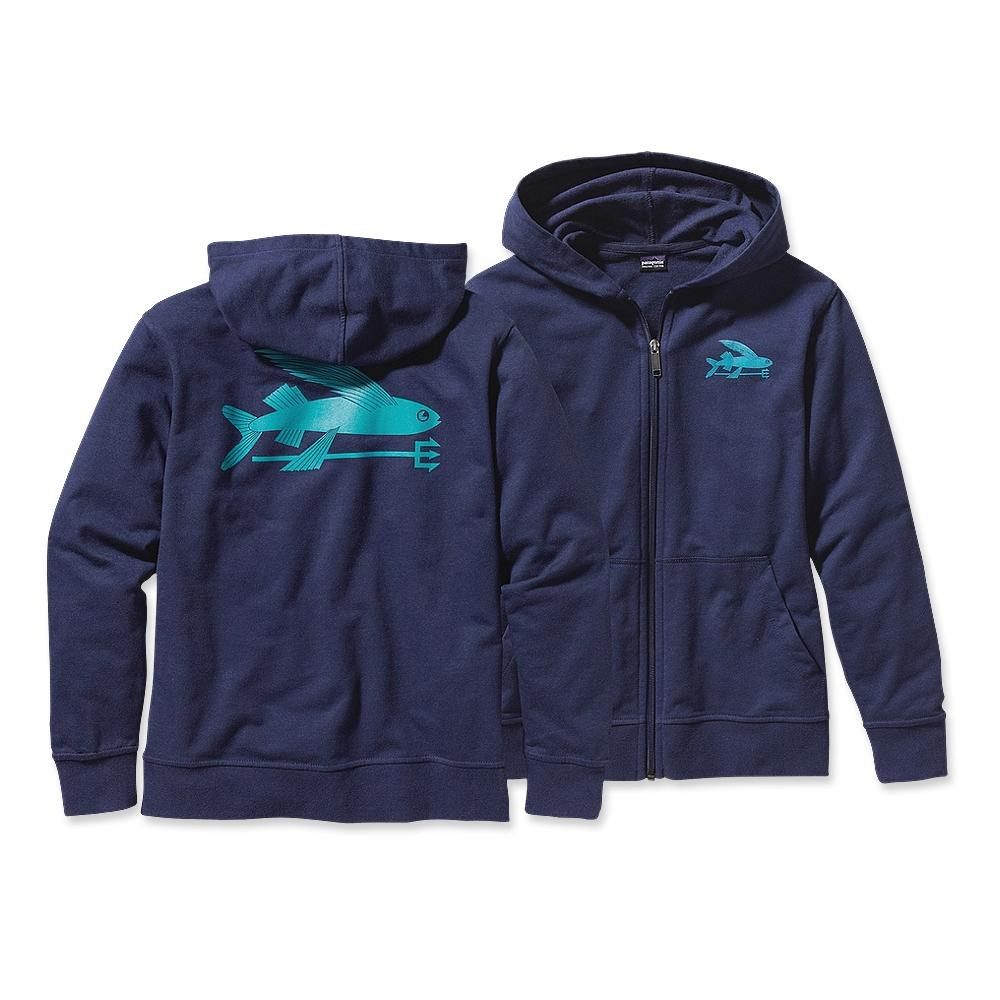 Patagonia Boys' Lightweight Phone Home Sweatshirt Flying Fish: Classic Navy-30