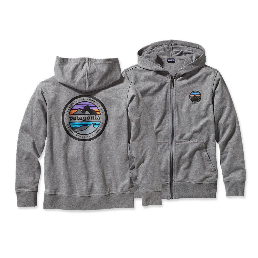 Patagonia Boys' Lightweight Phone Home Sweatshirt Rivet Logo: Feather Grey-30