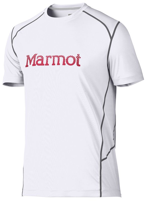 Marmot Windridge with Graphic SS White/Team Red-30