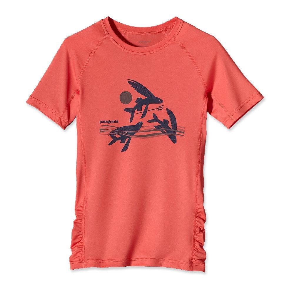Patagonia Girls Capilene 1 Silkweight T-Shirt Coral-30