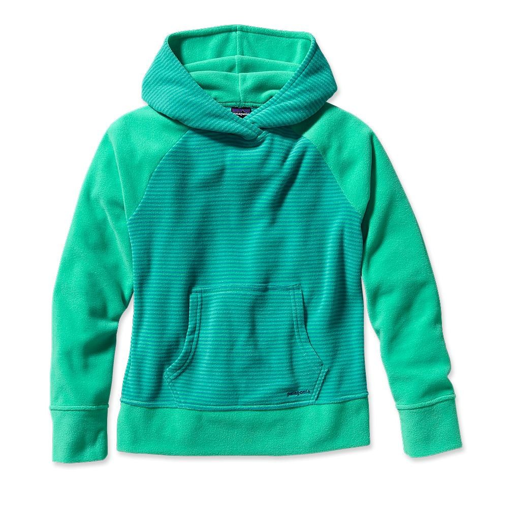 Patagonia Girls' Micro D Fleece Hoody Jenny Stripe: Desert Turquoise-30