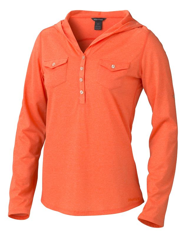 Marmot Wm's Laura LS Orange Coral-30