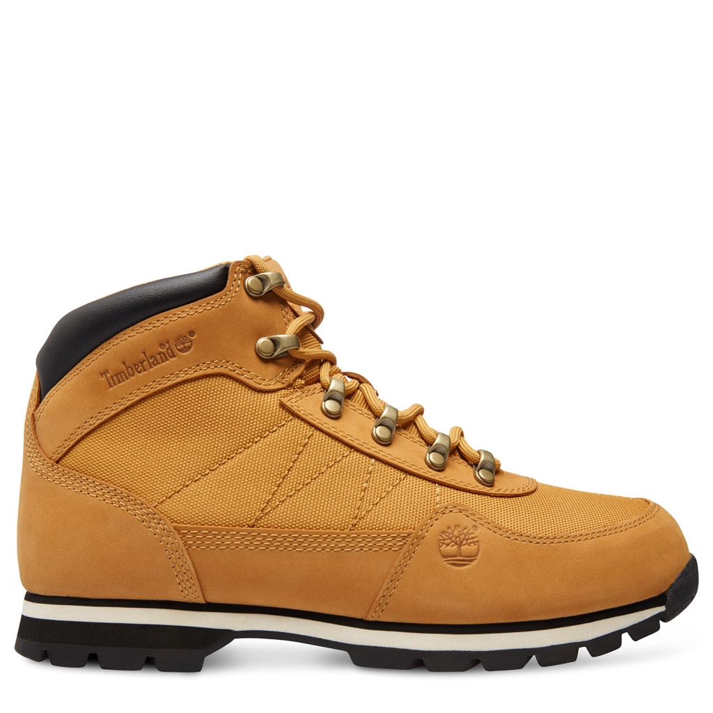 Timberland Men's Euro Hiker Mid Fabric with Leather US 13 Wheat-30