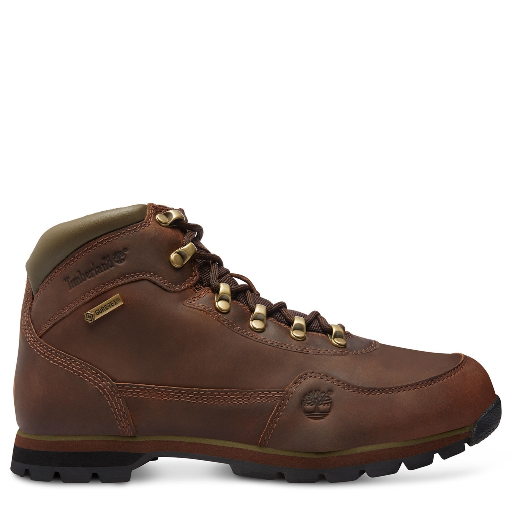 Timberland Herren Euro Hiker Mid Leather with GORE-TEX Membrane Brown Full Grain-30