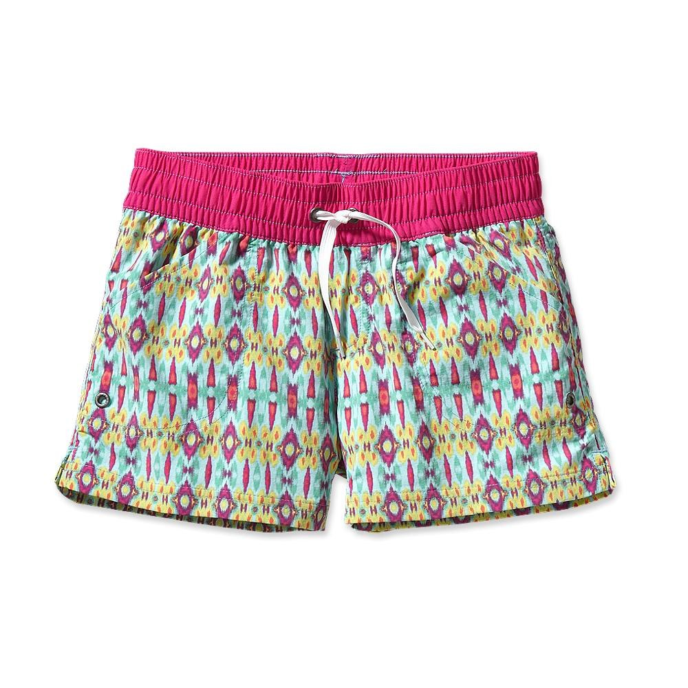 Patagonia Girls' Costa Rica Baggies Shorts 3 Inch Kasari Ikat: Polar Blue-30