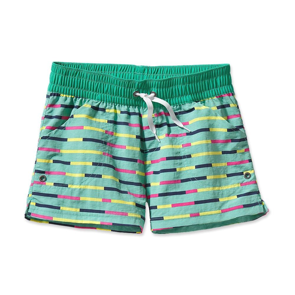 Patagonia Girls' Costa Rica Baggies Shorts 3 Inch Pop Stripe: Desert Turquoise-30