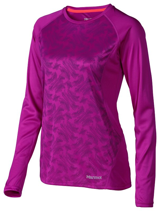 Marmot Wm's Crystal LS Beet Purple Vortex-30