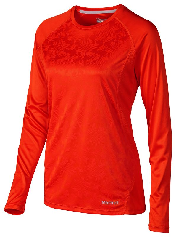 Marmot Wm's Crystal LS Coral Sunset Vortex-30