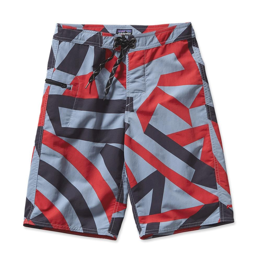 Patagonia Boy´s Wavefarer Short Razzle Flage: Leaden Blue-30