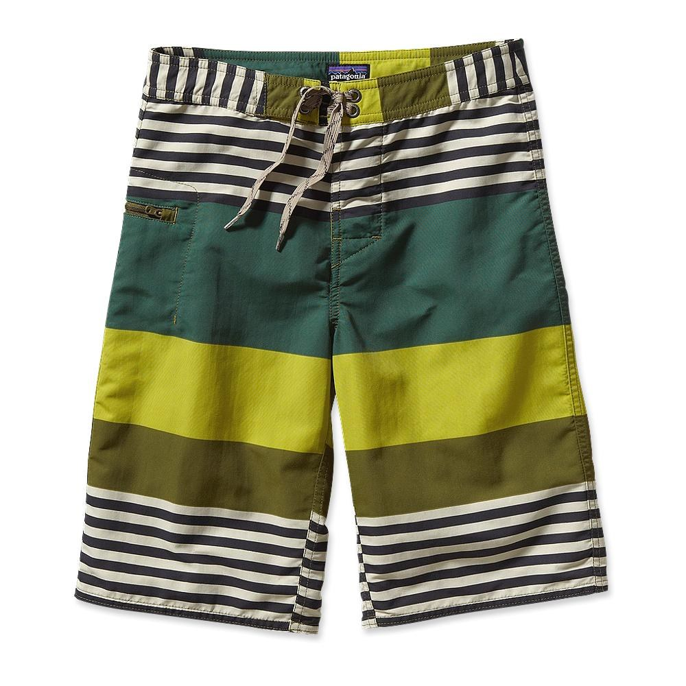 Patagonia Boy´s Wavefarer Short Fitz Stripe: Willow Herb Green-30