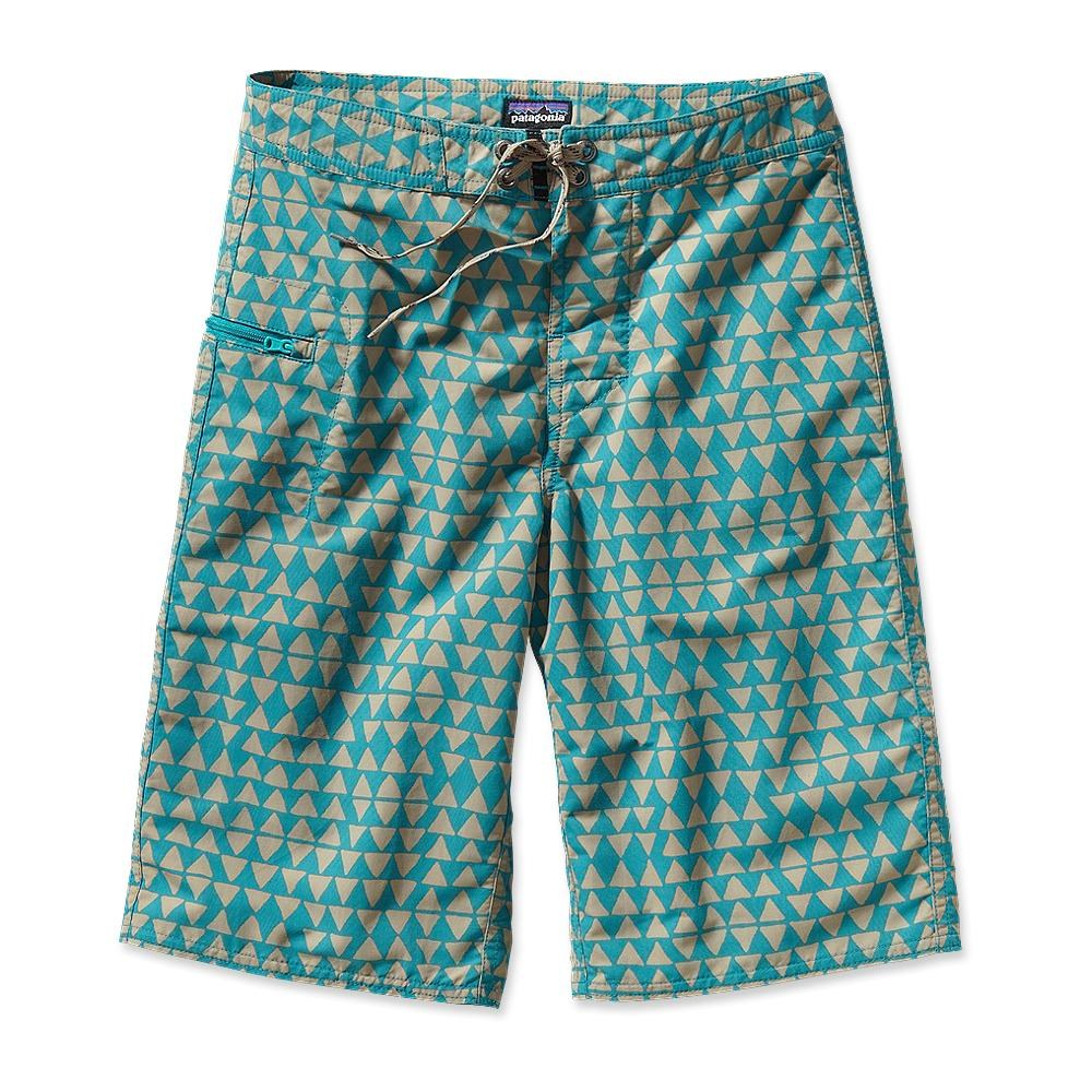 Patagonia BoyŽs Wavefarer Short Shark's Teeth: Tobago Blue-30