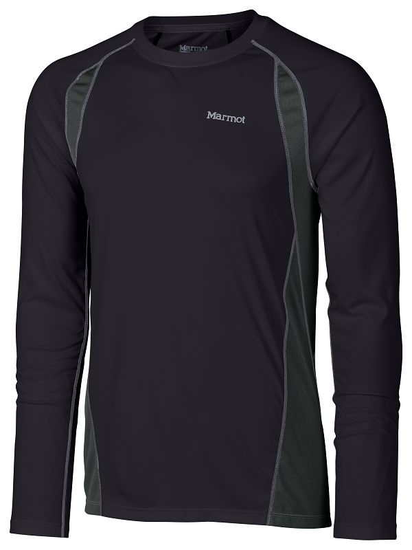 Marmot Interval LS Black/Slate Grey-30
