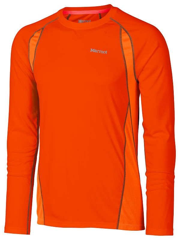 Marmot Interval LS Blaze/Bright Orange-30