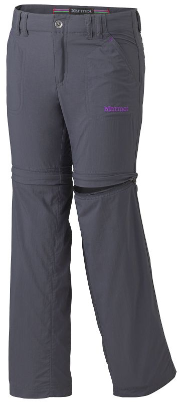 Marmot - Girl's Lobo's Convertible Pant Dark Steel - Zip-Off Pants -