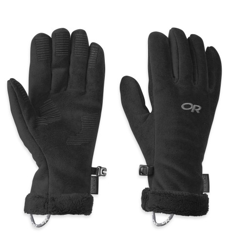 Outdoor Research Women´s Fuzzy Gloves 001-BLACK-30