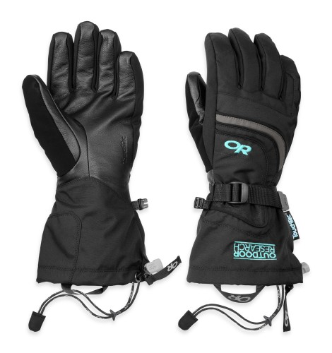 Outdoor Research Women´s Ambit Gloves 108-BLACK/CHARCOAL/POOL-30