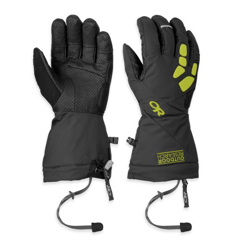 Outdoor Research Alpine Alibi II Gloves Black/Lemongrass-30
