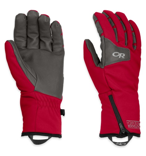 Outdoor Research Men´s Stormtracker Gloves 417-CHILI/CHARCOAL-30