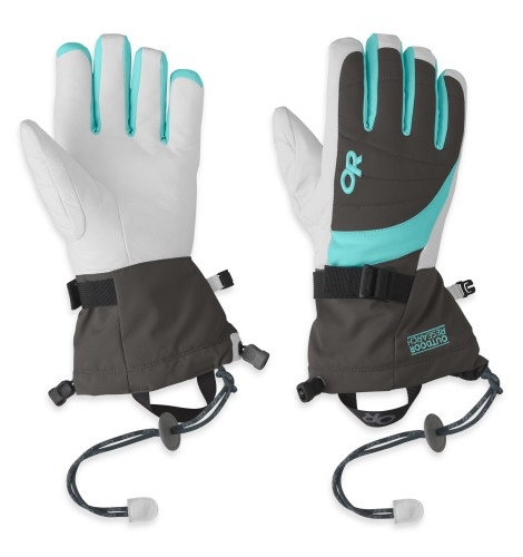 Outdoor Research Women´s Revolution Gloves 854-CHARCOAL/POOL-30