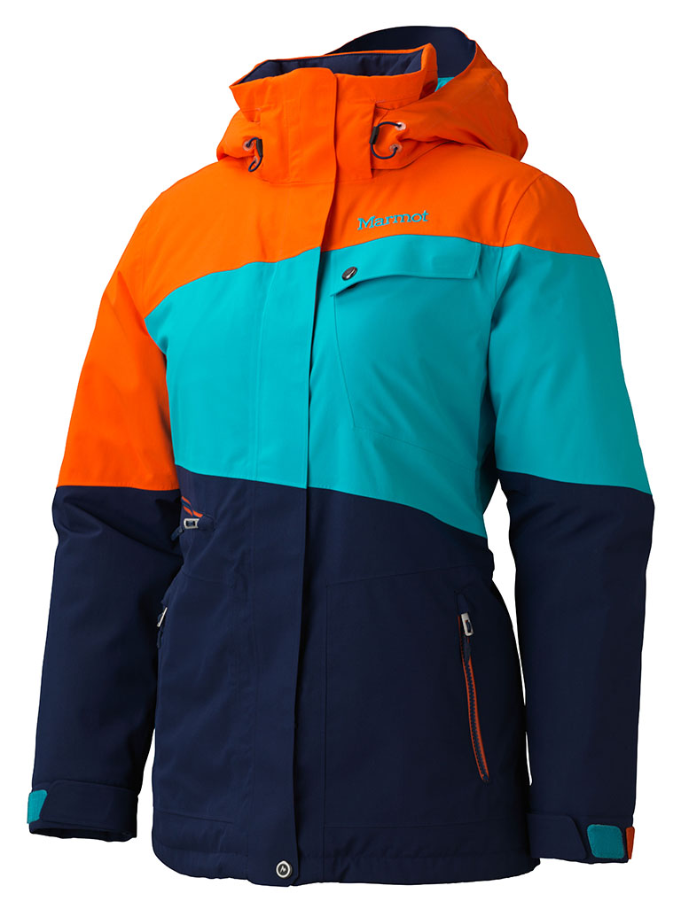 Marmot Wm's Moonshot Jacket Arctic Navy/Orange Coral-30