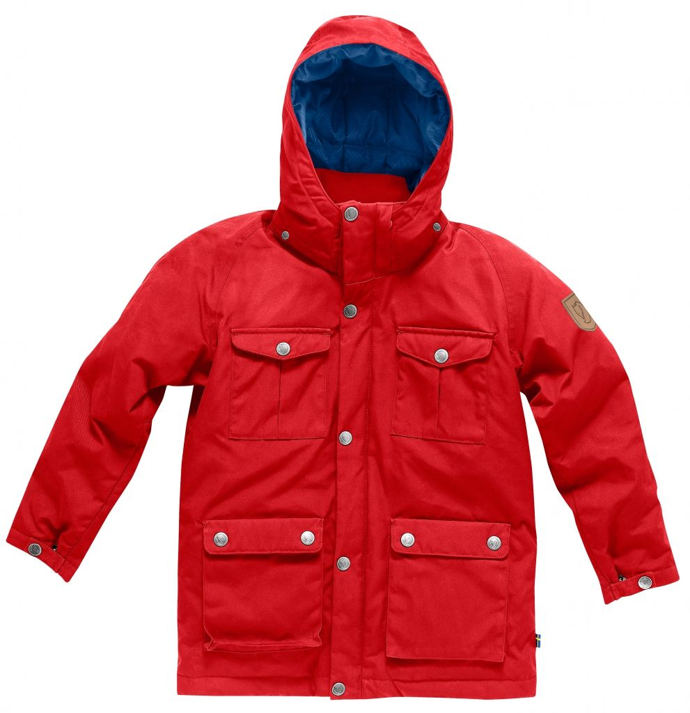 FjallRaven Kids Greenland Down Parka Red-30