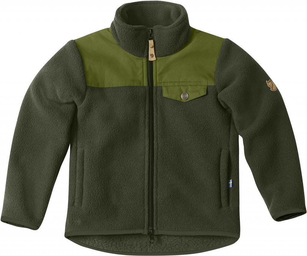 FjallRaven - Kids Sarek Fleece Jacket Olive - JacketsFleece Jackets - 140
