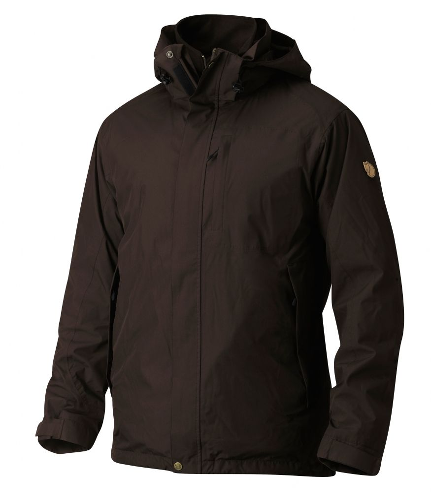FjallRaven Stuga 3 in 1 Jacket Black Brown-30