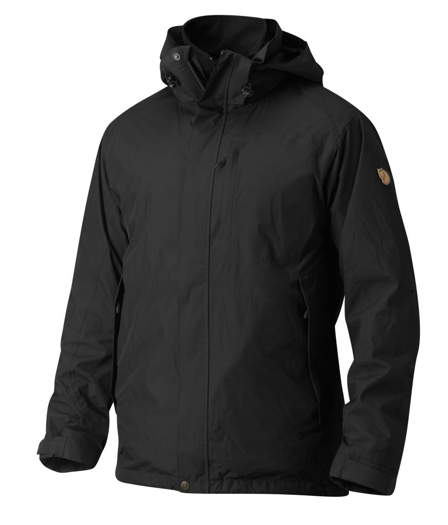 FjallRaven Stuga 3 in 1 Jacket Black-30