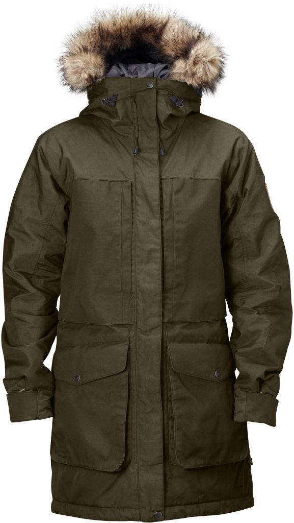 FjallRaven - Barents Parka Dark Olive - Isolation & Winter Jackets - L