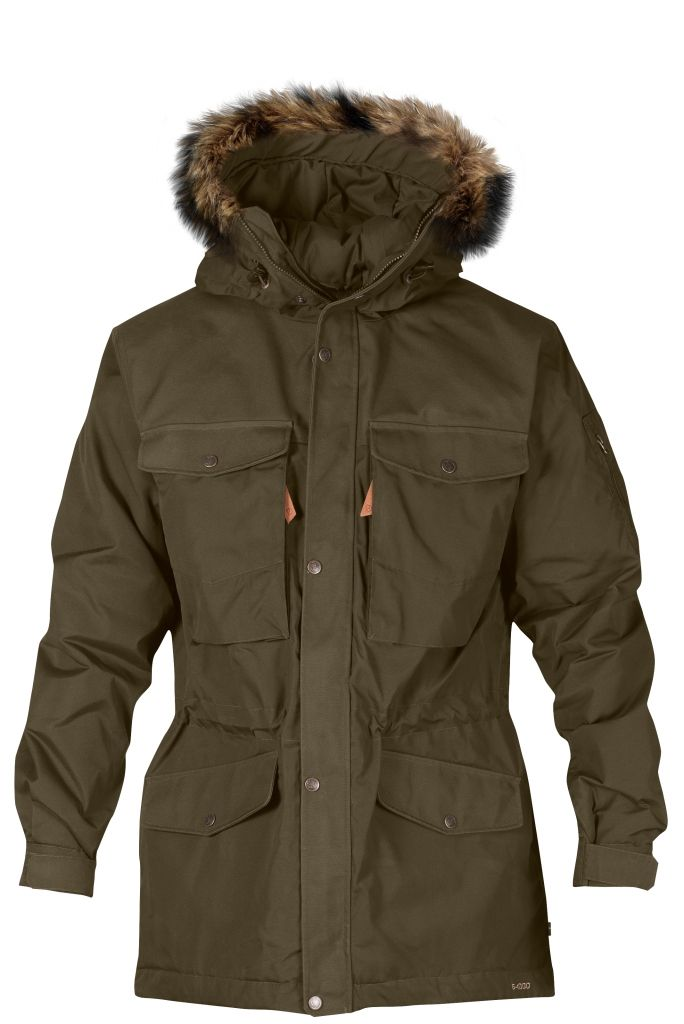 FjallRaven - Sarek Winter Jacket Dark Olive - Isolation & Winter Jackets - S