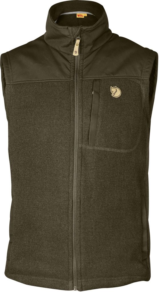 FjallRaven Buck Fleece Vest Dark Olive-30