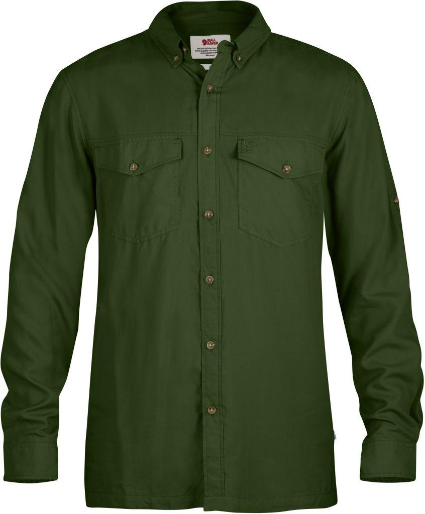 FjallRaven Abisko Vent Shirt LS Pine Green-30