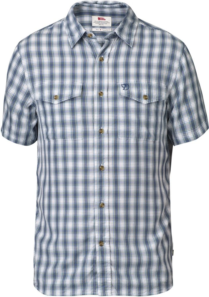 FjallRaven Abisko Cool Shirt SS Lake Blue-30