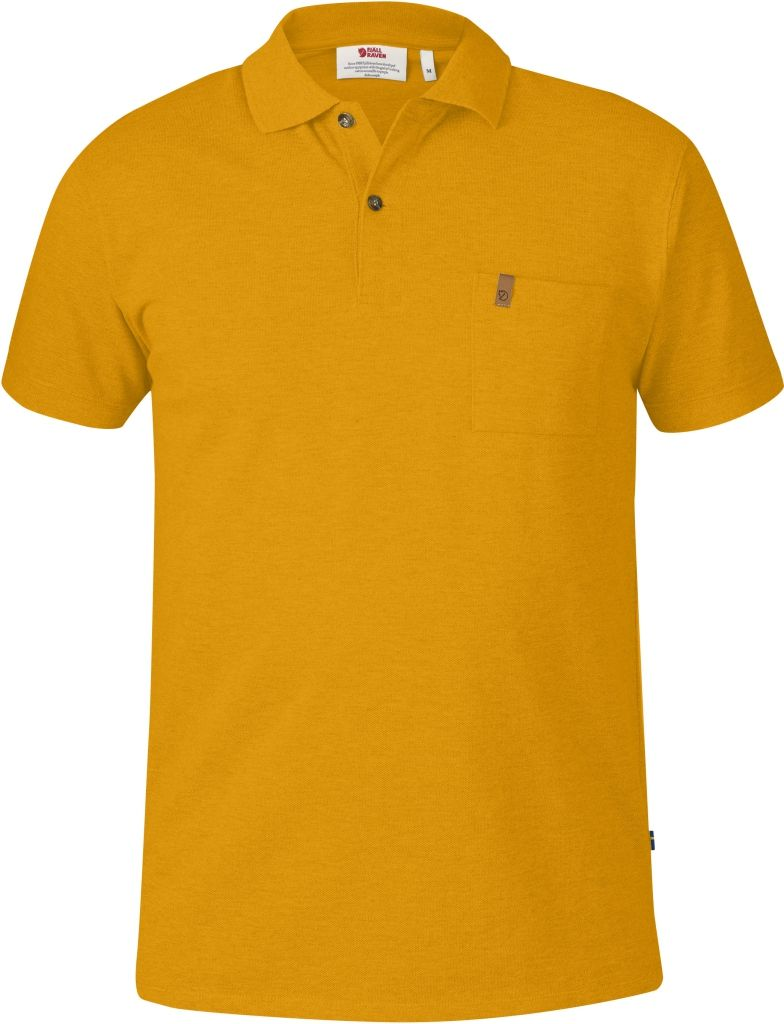 FjallRaven Övik Pique Shirt Campfire Yellow-30