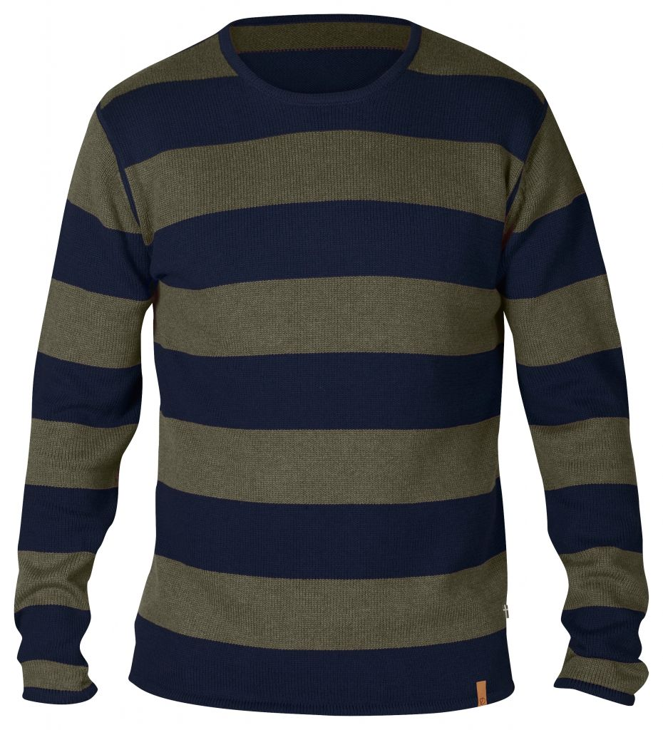 FjallRaven Kiruna Knit Striped Sweater Dark Navy-30