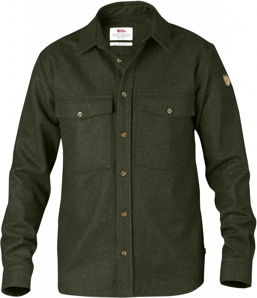 FjallRaven Ovik Wool Shirt Olive-30