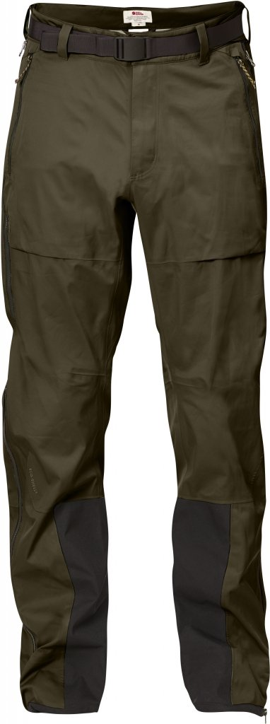 FjallRaven Keb Eco-Shell Trousers Dark Olive-30