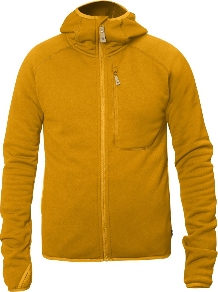 FjallRaven Abisko Fleece Hood Campfire Yellow-30