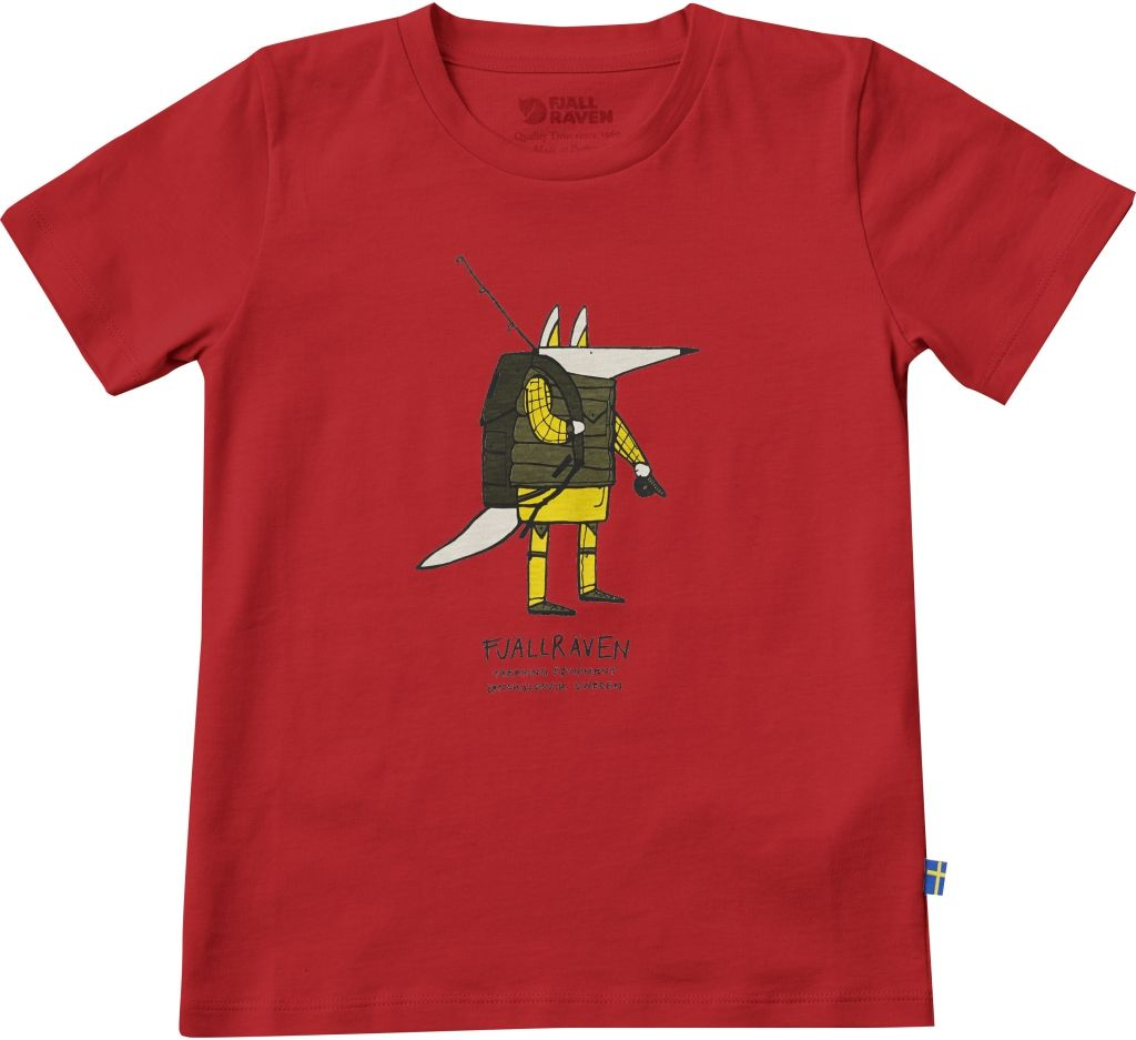 FjallRaven Kids Trekking Fox T-shirt Red-30