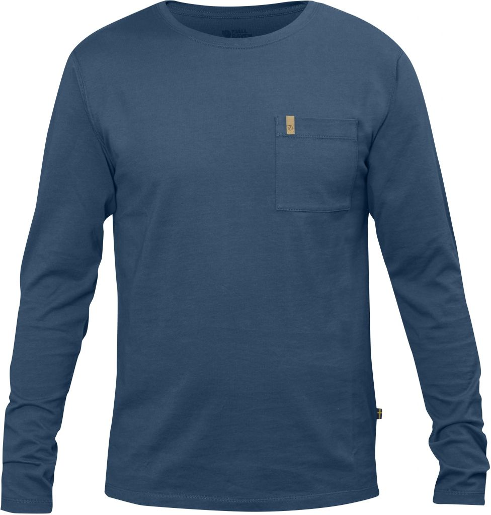 FjallRaven Övik Pocket T-shirt LS Uncle Blue-30