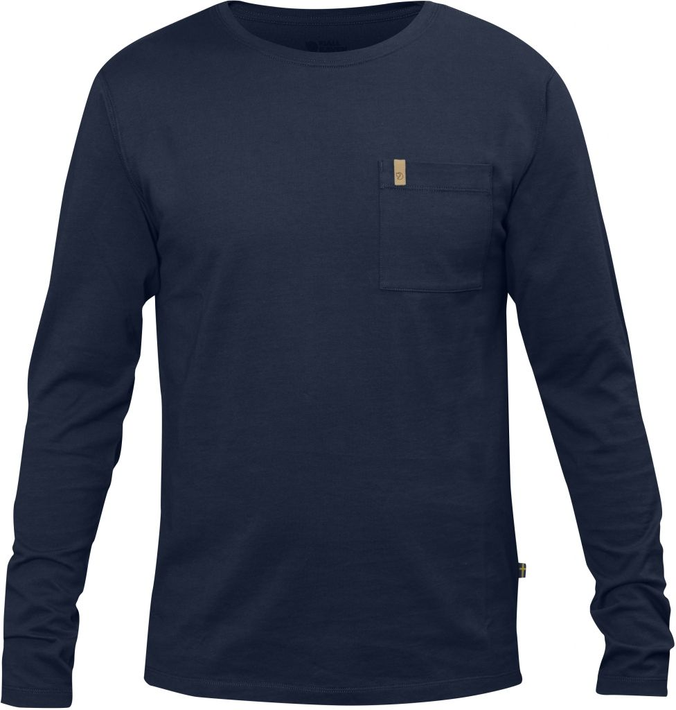 FjallRaven Övik Pocket T-shirt LS Dark Navy-30