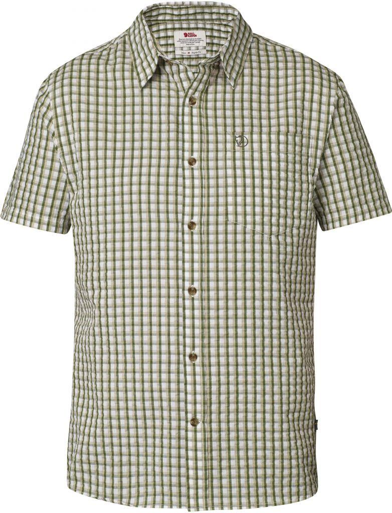 FjallRaven Abisko Seersucker Shirt SS Pine Green-30